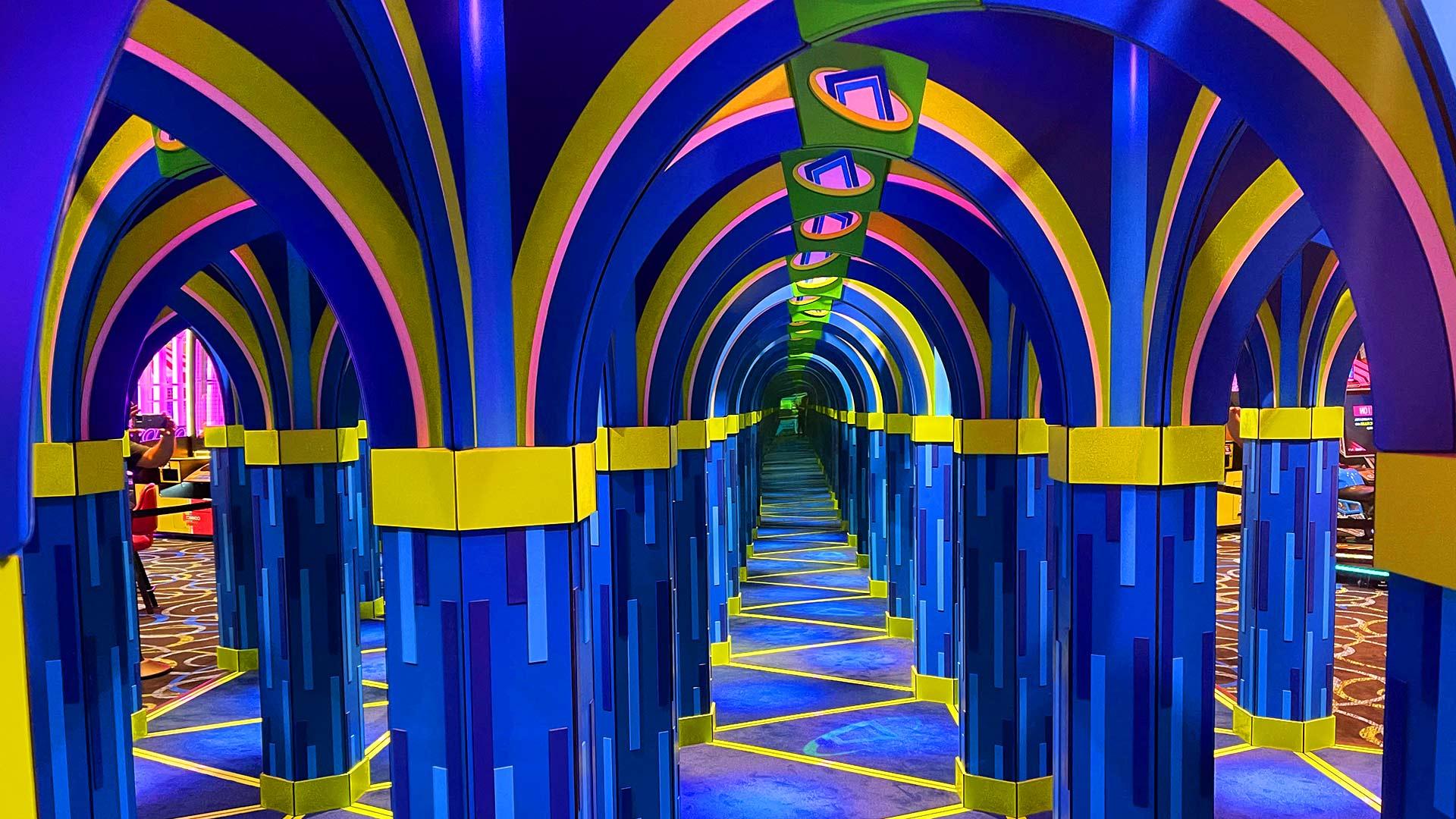 In The Game ICON Park in Orlando has a Mirror Maze